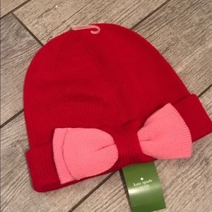 Kate spade winter bow hat
